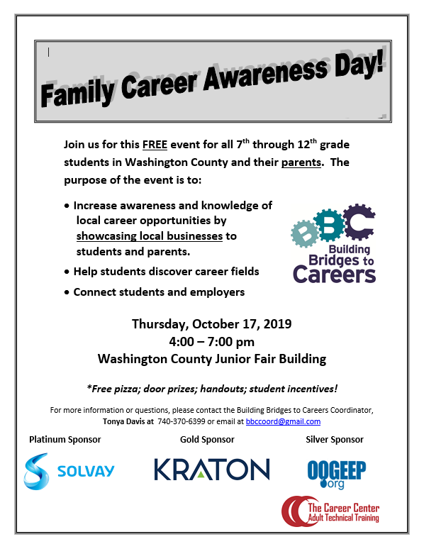 Family Career Awareness Flyer